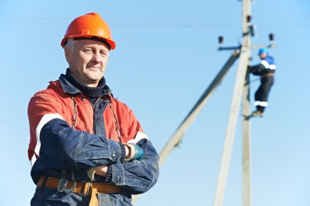 15973818 - power electrician lineman portrait